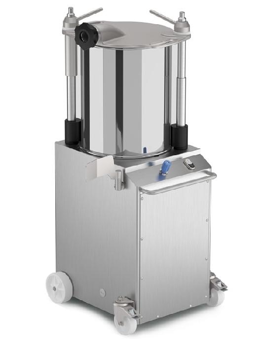 Вертикальный гидравлический шприц из нержавеющей стали для наполнения сосисок VINS22. Производитель Minerva.